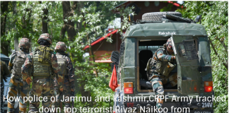 How police of Jammu and kashmir,CRPF Army tracked down top terrorist Riyaz Naikoo from Hizb-ul-Mujahideen and killed him