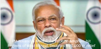 PM Narendra Modi Polls Cyclone Amphan-hit Regions of West Bengal, Declares Rs 1,000 cr relief package for Nation