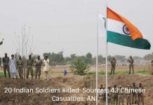 20 Indian Soldiers Killed: Sources; 43 Chinese Casualties: ANI