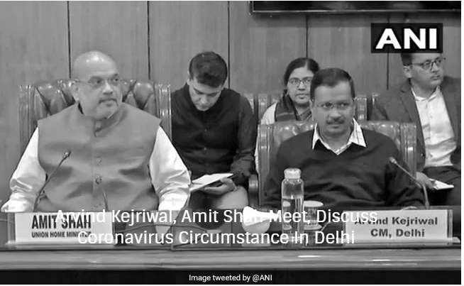 Arvind Kejriwal, Amit Shah Meet, Discuss Coronavirus Circumstance In Delhi