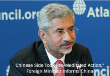 "Chinese Side Took Pre-Meditated Action,"" Foreign Minister Informs China"