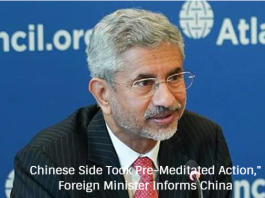 """Chinese Side Took Pre-Meditated Action,"""" Foreign Minister Informs China"""