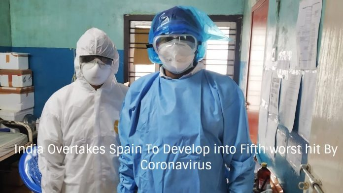 India Overtakes Spain To Develop into Fifth worst hit By Coronavirus