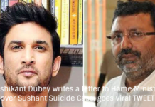 Nishikant Dubey writes a letter to Home Minister over Sushant Suicide Case, goes viral TWEET