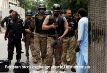 Pakistan stock exchange attack: Four terrorists killed, 6 more killed