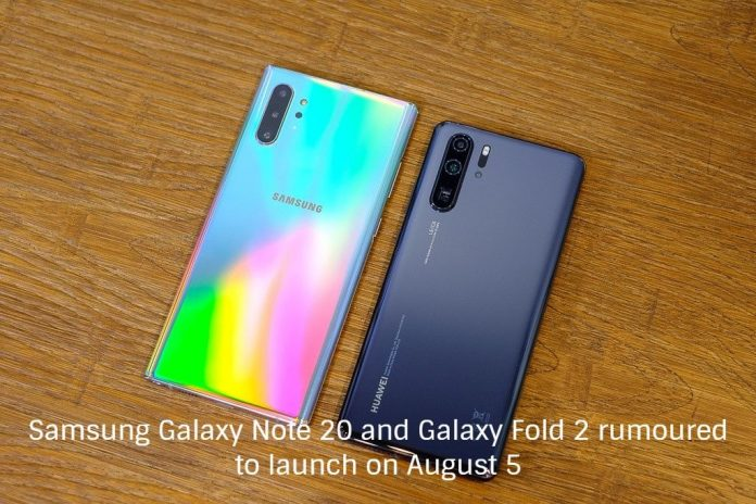Samsung Galaxy Note 20 and Galaxy Fold 2 rumoured to launch on August 5