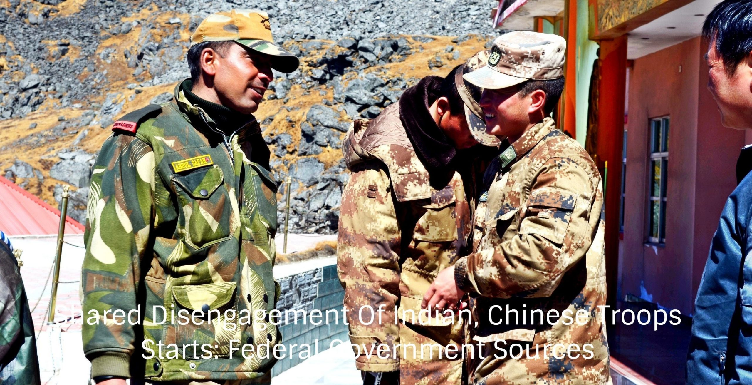 Shared Disengagement Of Indian, Chinese Troops Starts: Federal Government Sources