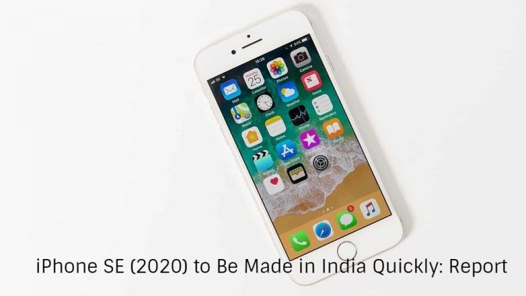 iPhone SE (2020) to Be Made in India Quickly: Report