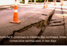 Delhi-NCR continues to tremble like northeast, three consecutive earthquakes in two days