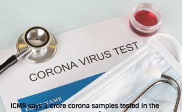 ICMR says 1 crore corona samples tested in the country so far