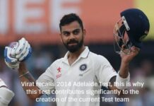 Virat recalls 2014 Adelaide Test, this is why this Test contributes significantly to the creation of the current Test team
