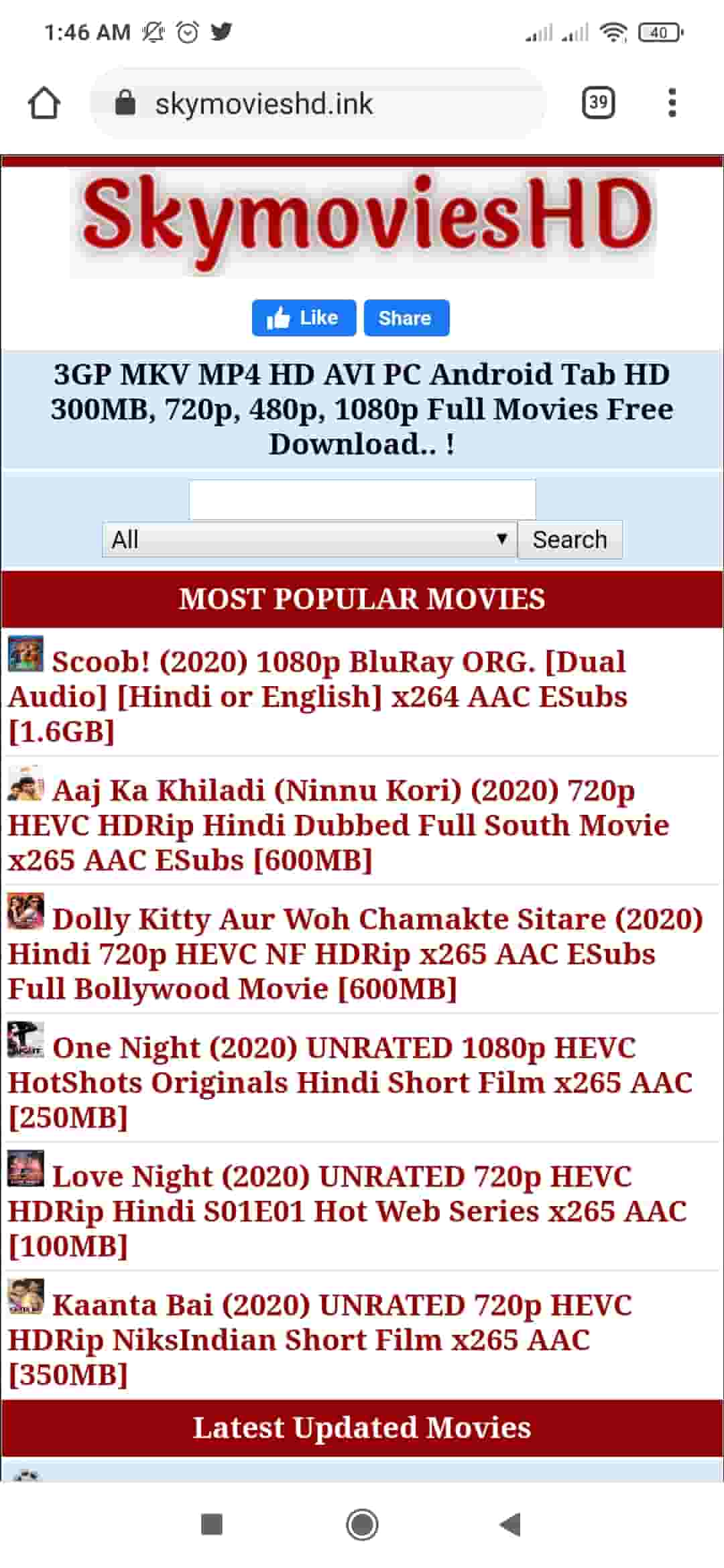 SkymoviesHD – Download Free Bollywood, Hollywood Movies in Hindi , illegally