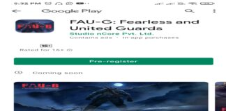 FAUG(Fearless and United Guard) crosses more the 1 million users on google play store preregistration