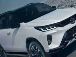 2021 Toyota Fortuner Legender SUV facelift.