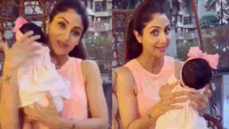 Shilpa Shetty With Her Baby